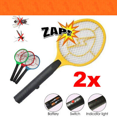 2X Electronic Zapper Racket Fly Swatter Mosquito Bug Insect Kill Random Color