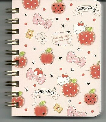 Sanrio Hello Kitty Spiral Notebook Small Bows Fruits