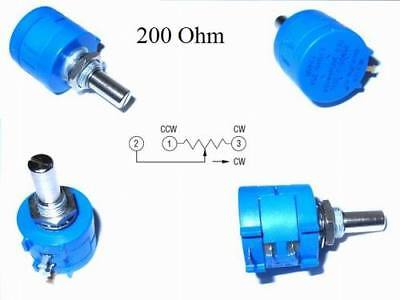 BOURNS 3590S - 2-201L 200 Ohm Rotary Draht Präzisions-Potentiometer 10 Gang 1 St