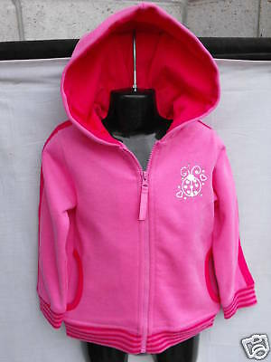 BNWT Fleece Lined Hot Pink Girls Sz 1 Hooded Jacket