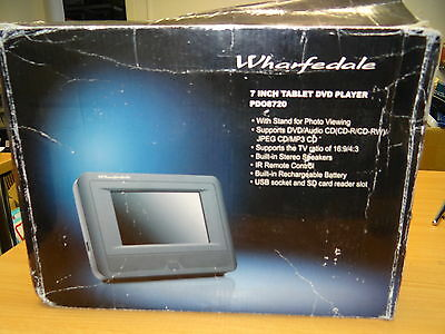 Wharfedale Black 7 INCH Tablet DVD Player With Remote (PD08720)