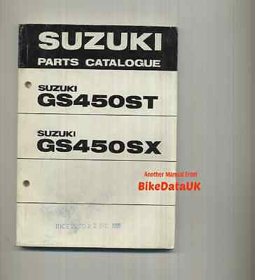Genuine Suzuki GS450S 1980-1981 Fully Illustrated Parts List Catalogue GS 450 S
