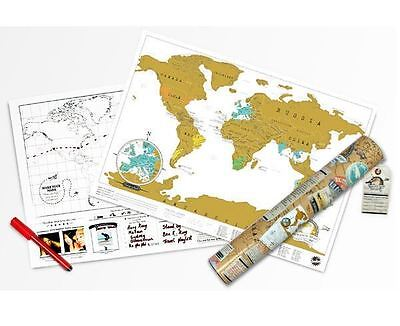 Scratch Map Travel Edition by Luckies Wall World Travel Scratch Off Map Tubed