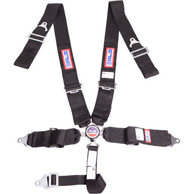 R.J.S. Safety Equipment 1034101 5-Point Cam-Lock Racing Harness Black