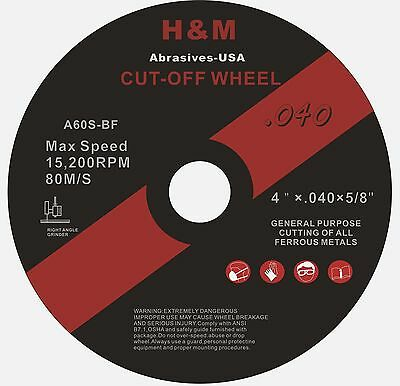 "50 4""x.040""x5/8"" Stainless Steel & Metal Cut-off Wheels Cutting Disc"