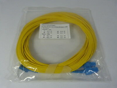 Optical Cable Corp LC/UPC-SC/UPC SM 9/125um 2mm 15m Optic Cable ! NWB !