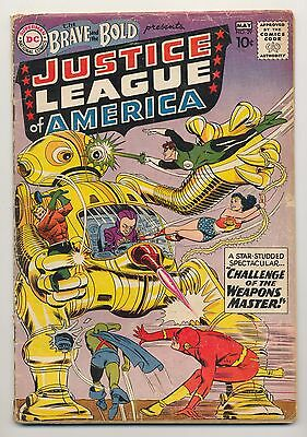 Brave and the Bold #29 (1960) Good (2.0) Justice League of America ~ Robot