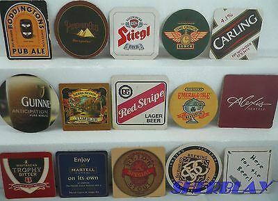 Vintage Some Modern RARE Lot of 15 Mixed Pub Beer Advertising Drink Bar Coasters