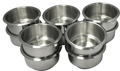10Pcs Dual Size Stainless Steel Poker Table Cup Holders