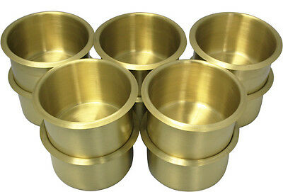 10Pcs Jumbo Size Poker Table Cup Holders Brass