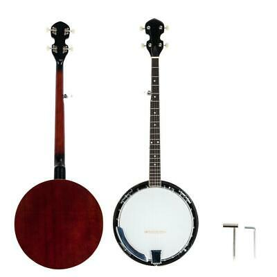 New 5 String Banjo Full Size with Closed Back 24 Brackets Head & Maple Neck
