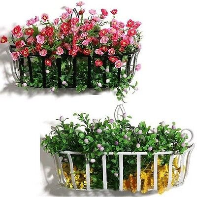 Wall Mount Flower Rack Plant Basket Holder Iron Display Stand Home Garden Decor