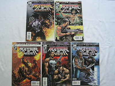 WOLVERINE/PUNISHER : COMPLET 5 QUESTION SERIES by MILLIGAN. MARVEL KNIGHTS.2004
