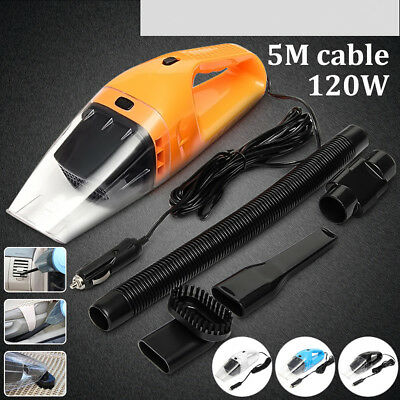 Portable 12V 120W Dust Auto Vehicle Car Handheld Vacuum Dirt Cleaner Wet & Dry
