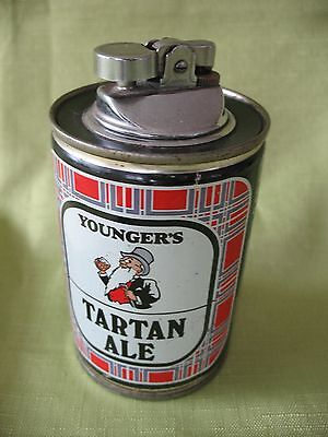 Old vintage Youngers Tartan Ale advertising beer can