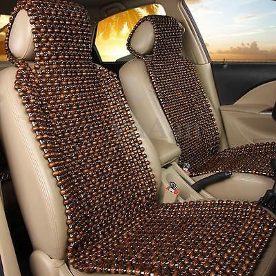 Natural Wood Wooden Beaded Car Van Taxi Seat Cover Bead Cushion Pad Massage Back