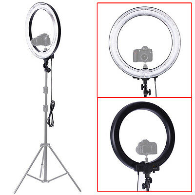 "Neewer 18""Outer 14""Inner Dimmable Camera Fluorescent Ring Flash Light Make Up"