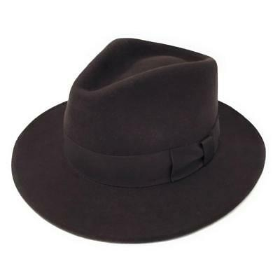 Brown Lined Wool Felt S M L XL XXL Navy Fabric Protection Black Grey Cotswold Country Hats Pork Pie Hat