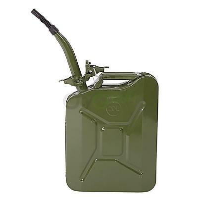 5 Gal 20L Jerry Can Gasoline Gas Fuel Can Emergency Backup Gas Caddy Tank Green