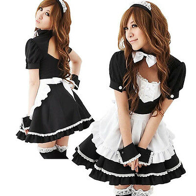 Nouveau Sexy Lolita Soubrette Costume Cosplay Robe Halloween