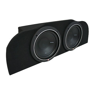 "03-15 Fits Infiniti G35 Coupe Rockford P1S410 Subwoofer Dual 10"" Sub Box 2 Ohm"