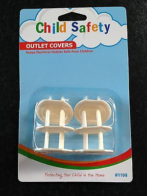 BNIP Child Safety Pack of 6 Electrical Power Outlet Covers/Protectors