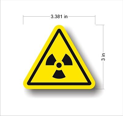 Industrial Safety Decal Sticker caution radioactive RADIO ACTIVE warning label