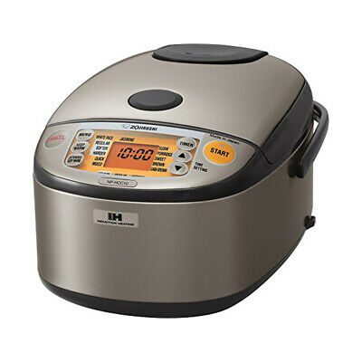 Zojirushi NP-HCC10XH Induction Heating System Rice Cooker and Warmer, 1 L, Stain