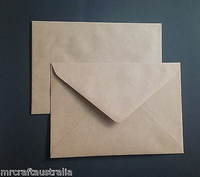 50 Envelopes Kraft Craft Recycled Brown C5 90gsm Thick Fits 1/2 A4