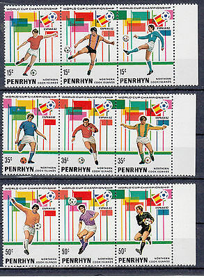 Penrhyn:1981 World Cup Champioship Spain 1982.set of 9 stamps. MNH/MUH