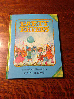 Rare SIGNED Marc Brown PARTY RHYMES 1988 First Edition/First Printing!