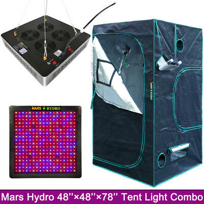 Mars II 1200W Led Grow light Hydro lampe+1.2x1.2x2m Indoor Grow Zelt Tent plants