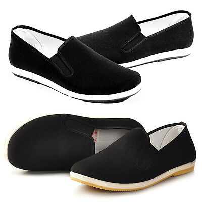 Men Special Chinese Cloth shoes handmade Kung Fu slippers Tai Chi shoes Driving