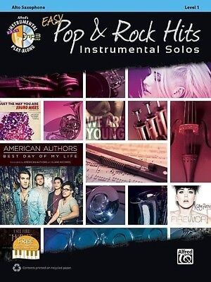 Easy Pop & Rock Hits for Alto Saxophone Book & MP3 *NEW* Sheet Music,
