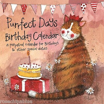 Alex Clark Cats purrfect days perpetual birthday Calendar