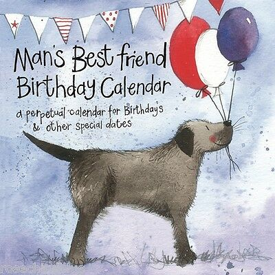 Alex Clark Dogs man's best friend perpetual birthday  Calendar