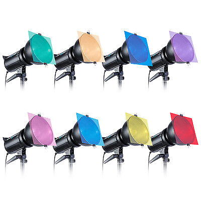 """Neewer 8 PCS 12 x 12"""" Square Color Correction Lighting Gel Filter Set for Photo"""