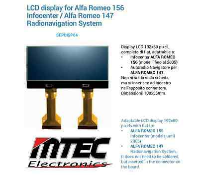 Display per contachilometri INFOCENTER ALFA 147 / 156