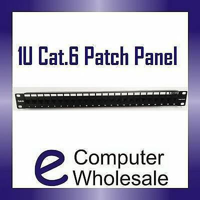 "19"" (19 inch) 24 Port Patch Panel 1U for CAT6/CAT-6 Network NEW-AUSSIE SELLER!"