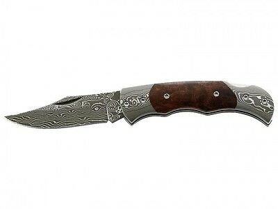 Herbertz 71 Layers Damascus Folding Pocket Knife / Root Wood ** New **