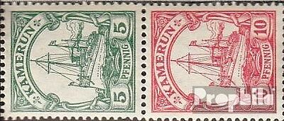 Cameroon (German. Colony) S12 with hinge 1913 Ship Imperial Yacht Hohenzollern