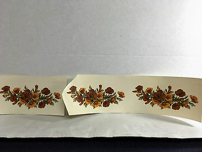 Ceramic decals flowers poppies pattern lot of 30