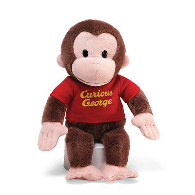 "CURIOUS GEORGE DOLL with Red Shirt - by GUND - 12"" - BRAND NEW - #4029019"