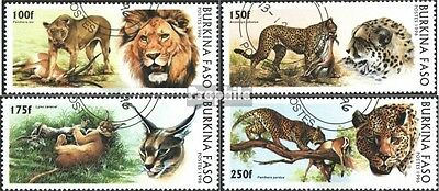 Burkina Faso 1437-1440 (complete issue) used 1996 Big Cats