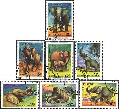 Tanzania 1014-1020 (complete issue) used 1991 Elephants