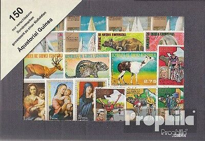Equatorial-Guinea 150 different stamps