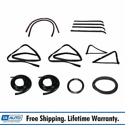 Complete Weatherstrip Seal Kit w/Plastic Chrome Trim for 80-86 Ford F Series
