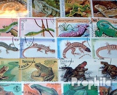 Motives 200 different Reptiles stamps
