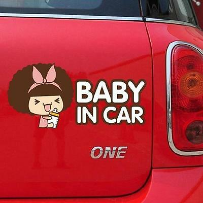 Baby In Car Moss Doll Auto Car Vehicles Decal Safety Sign Warning Sticker - LD