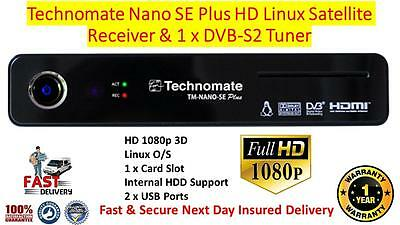 Technomate TM-Nano SE PLUS HD Linux Satellite Receiver X 1 DVB-S2 Tuner